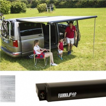 Fiamma F40 Van 270 Awning for VW T5/T6 Transporter Campervan DEEP BLACK ROYAL GREY
